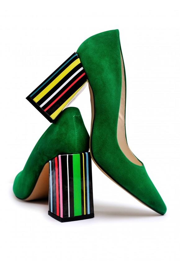 727746 Зеленые замшевые туфли Grass