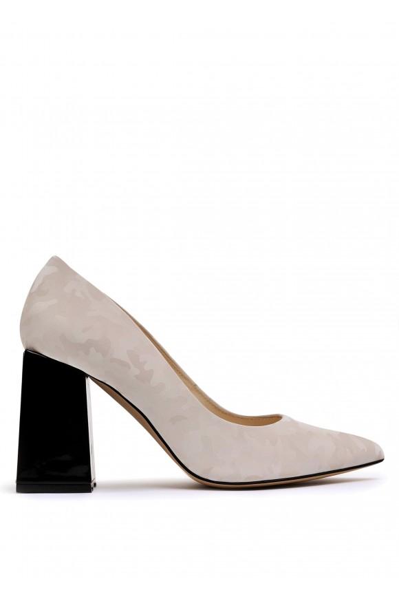 727756  Шкіряні туфлі Plombir з принтом