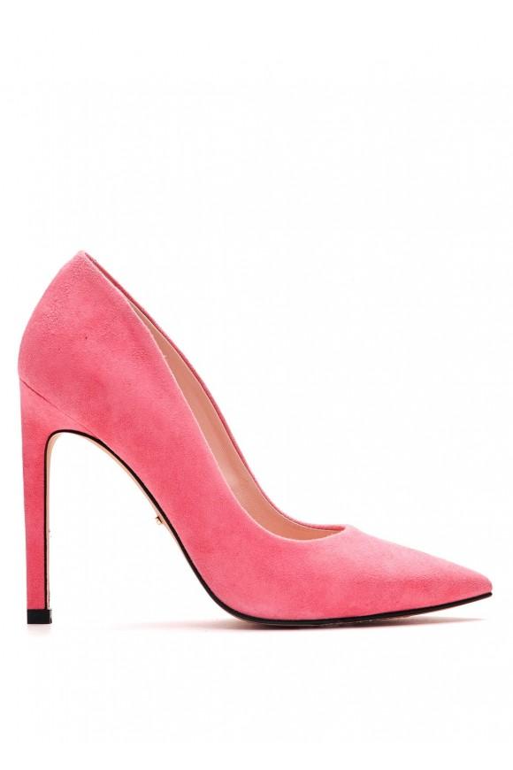 Рожеві Замшеві Туфлі на Підборах