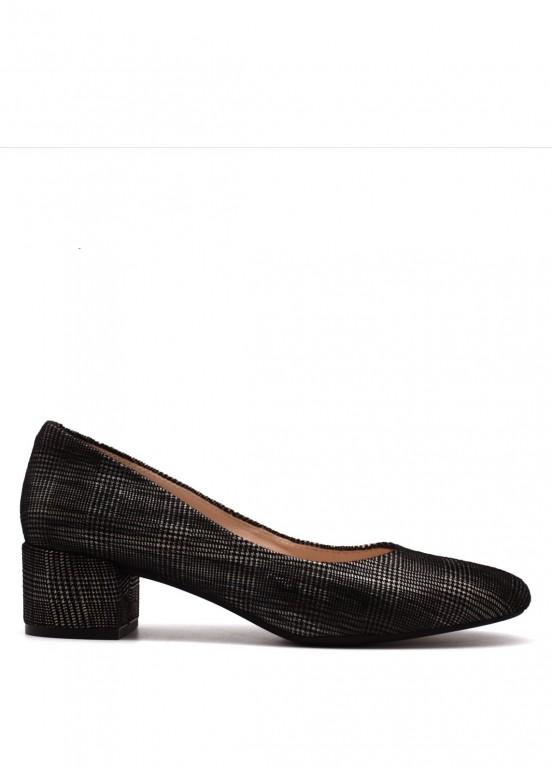 960391 Кожаные туфли в клетку