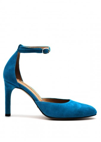 891611 Відкриті замшеві туфлі