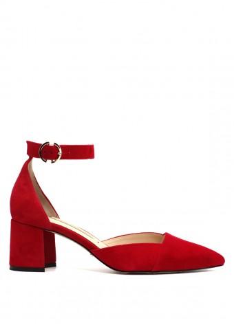 716131 Туфлі червоні замшеві