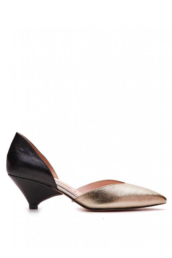 Туфли-деленки кожаные