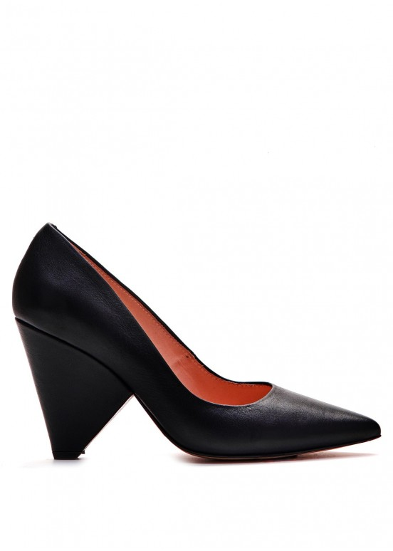 721254 Черные кожаные туфли