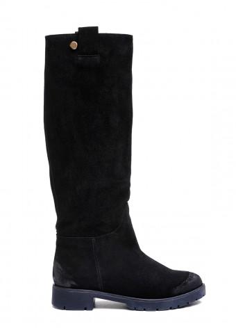 052301 Замшеві чорні чоботи