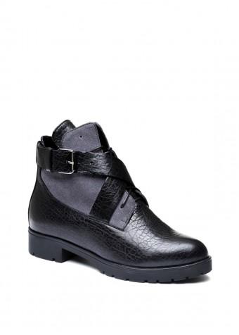 052231 Замшеві черевики на хутрі
