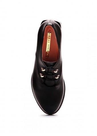 587201 Черные кожаные туфли