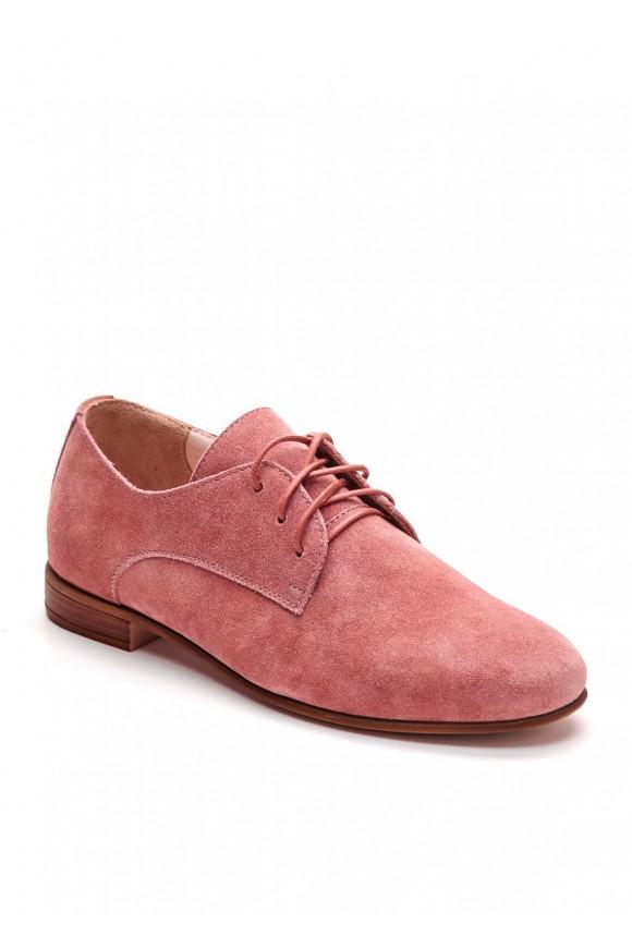 Бежевые замшевые туфли