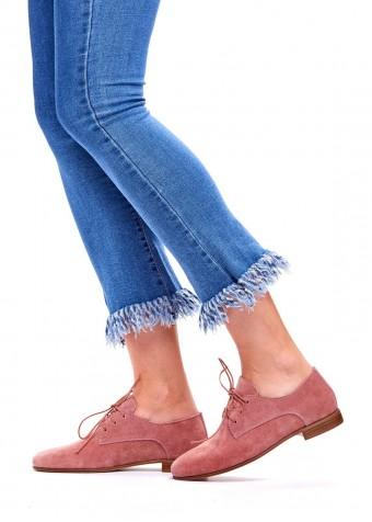 715202 Бежеві замшеві туфлі