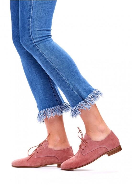 715202 Бежевые замшевые туфли