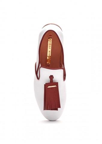 715002 Белые кожаные туфли