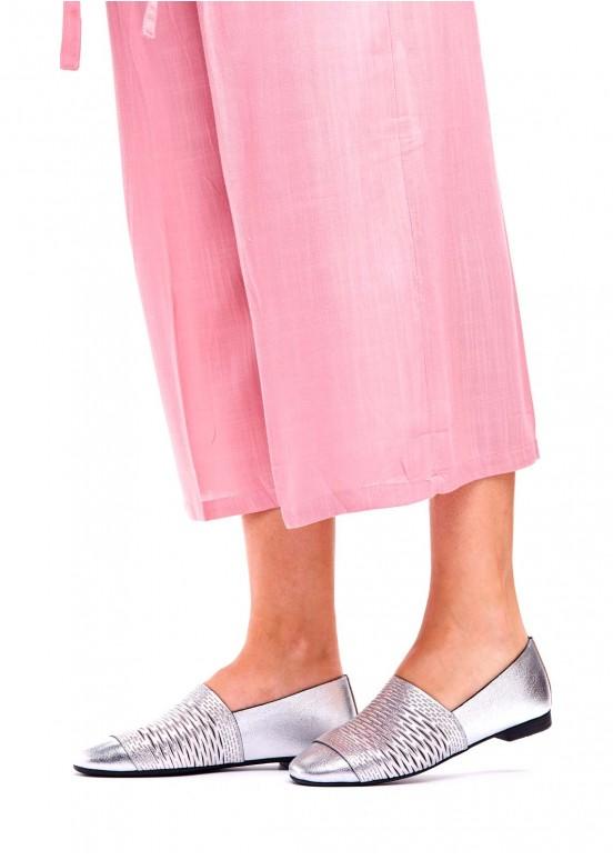 794101 Серые кожаные туфли