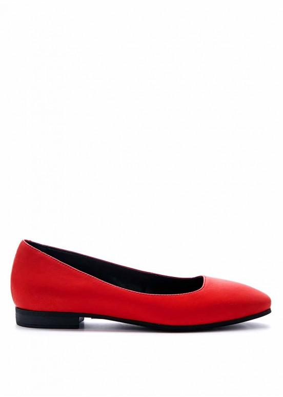 220021 Красные туфли низкий ход