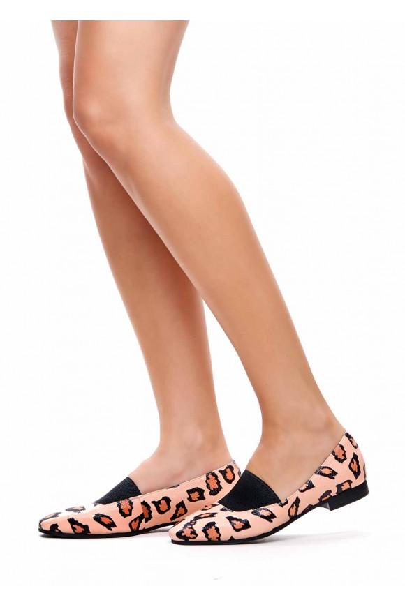 Кожаные туфли с леопардовым принтом