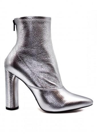 764914 Кожаные ботинки цвета серебро