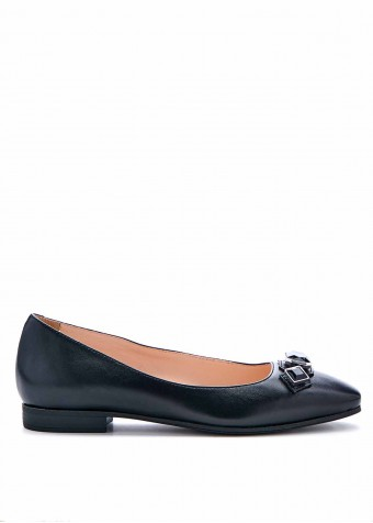 220101 Чорні туфлі з каменями