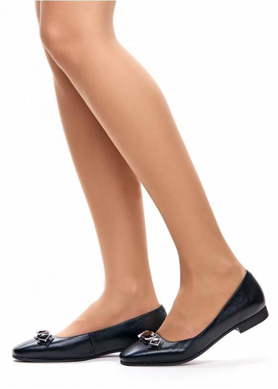 220101 Черные туфли с камнями
