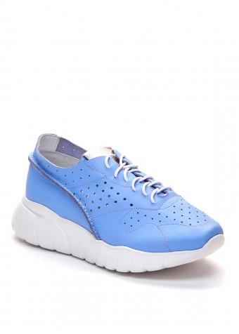 563527 Голубые кожаные кроссовки