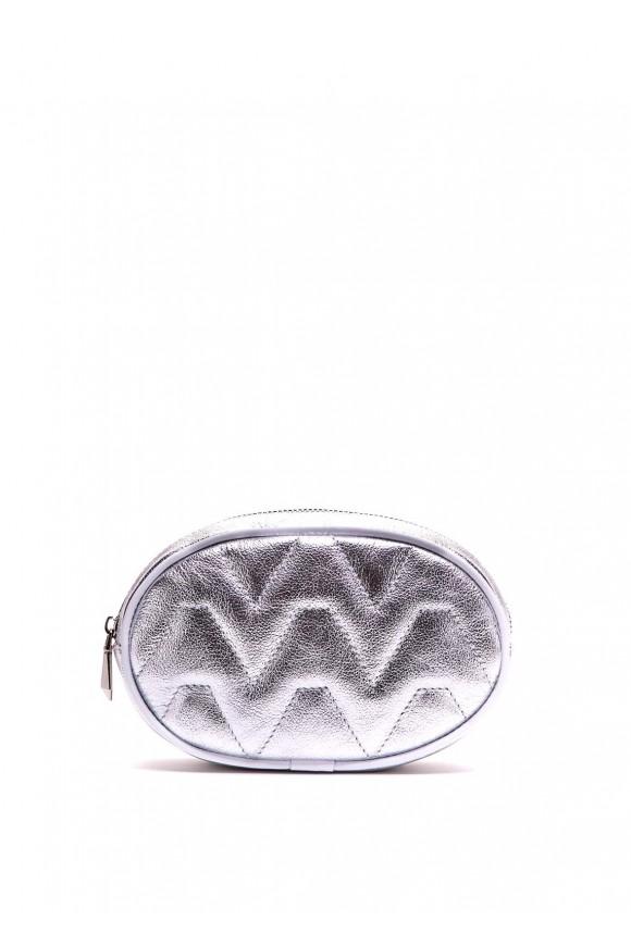 Срібна міні-сумка