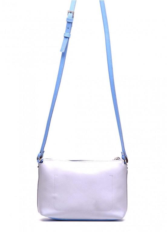 91602 Белая кожаная сумка