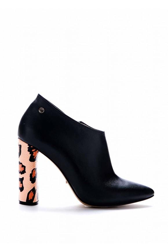 Черные Ботильоны на каблуке 10 см