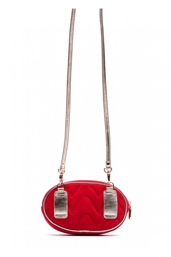 Ременная сумка красная