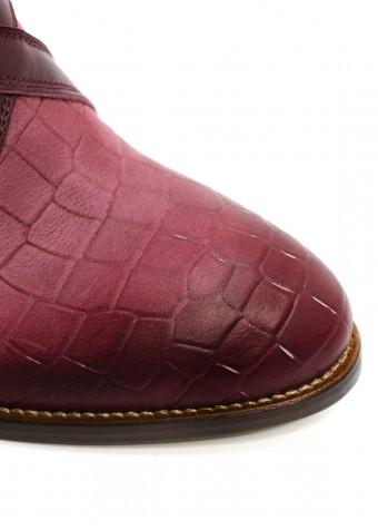 424281 Бордовые ботинки с