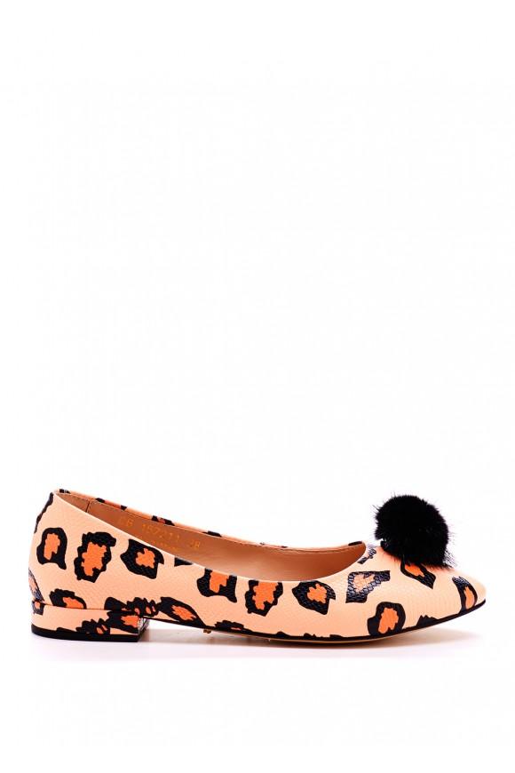 Кожаные Леопардовые Балетки