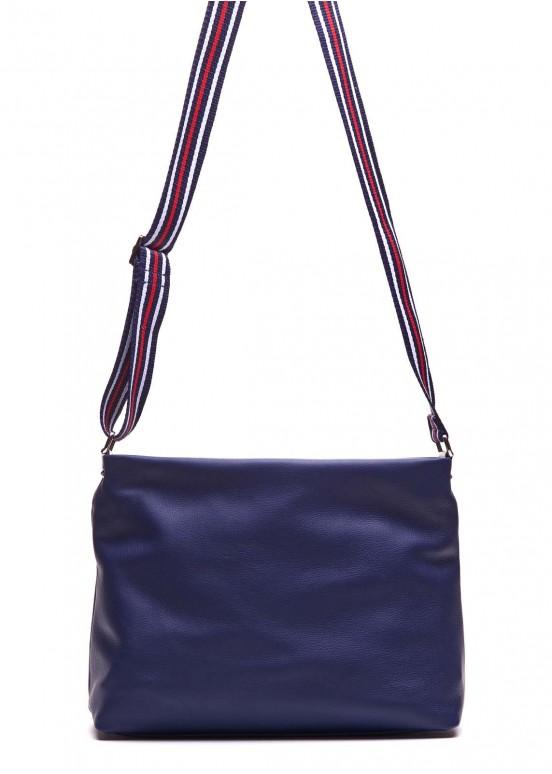 88901 Синяя кожаная сумка