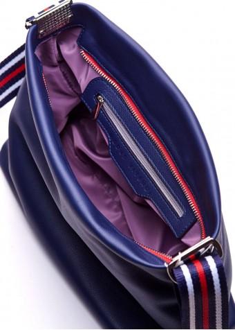 88901 Синя шкіряна сумка