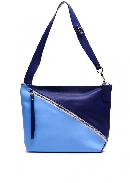94503 Синяя кожаная сумка