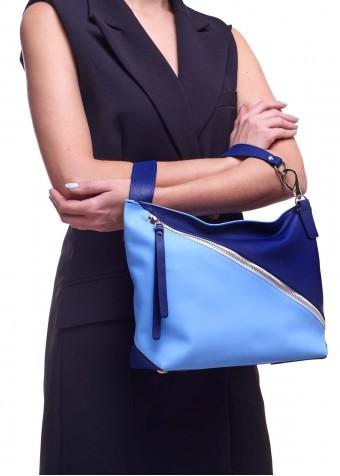 94503 Синя шкіряна сумка