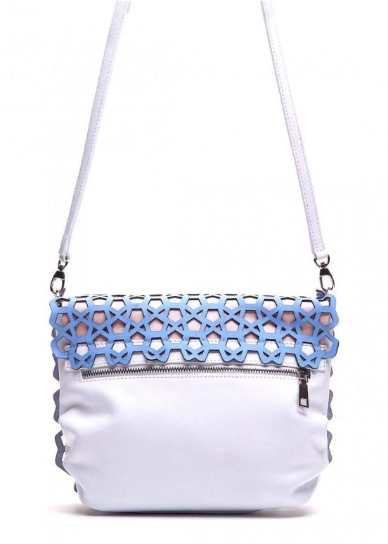 95303 Голубая кожаная сумка