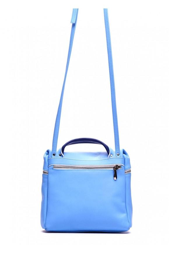 Голубая кожаная сумка