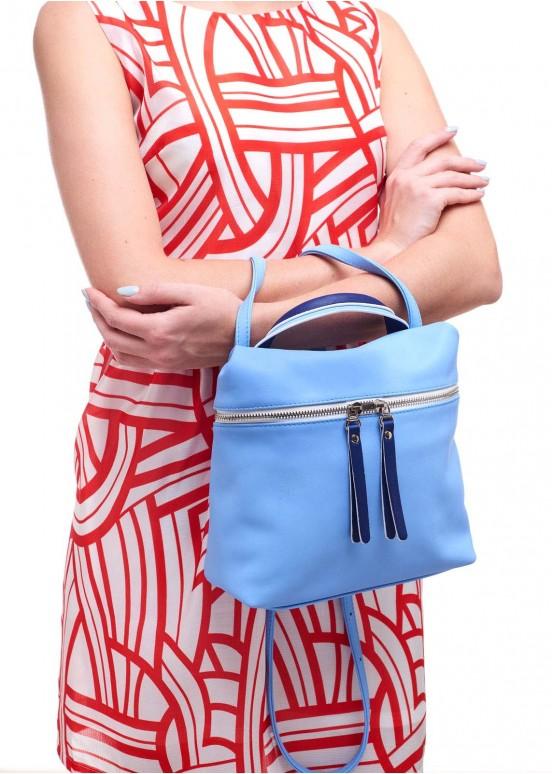95503 Голубая кожаная сумка
