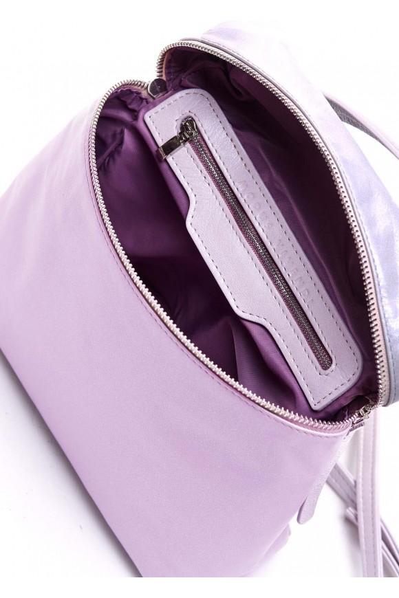 Розовая кожаная сумка