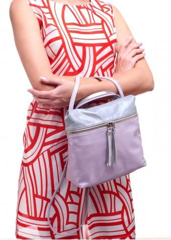 95501 Рожева шкіряна сумка
