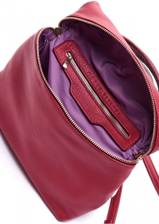 95502 Бордовая кожаная сумка