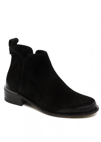 531244 Замшевые черные ботинки