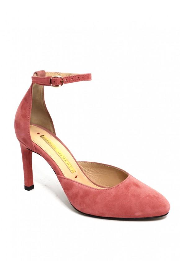 Замшевые туфли-деленки
