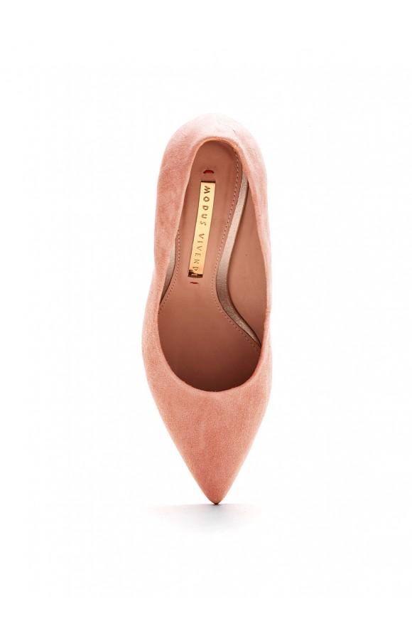 Туфли замшевые цвет