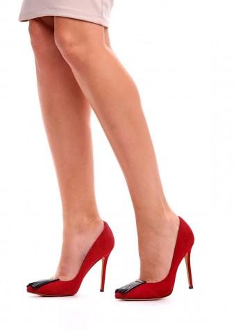 431301 Замшеві червоні туфлі