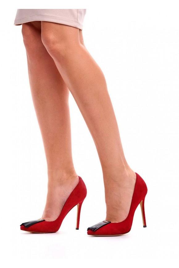 Замшеві червоні туфлі