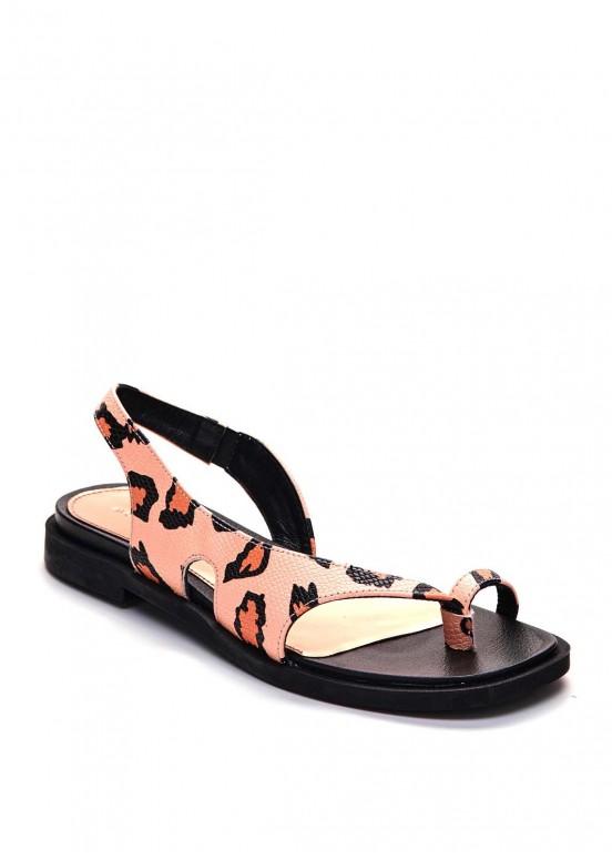 786212 Кожаные сандалии с принтом