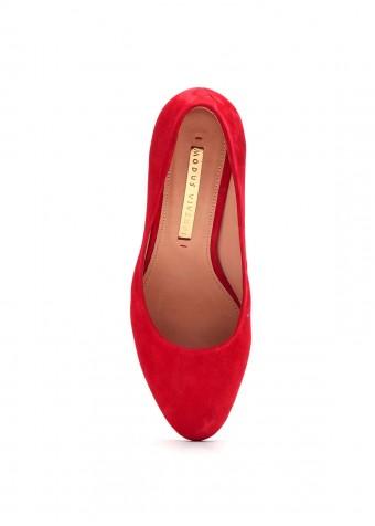 891511 Червоні замшеві туфлі