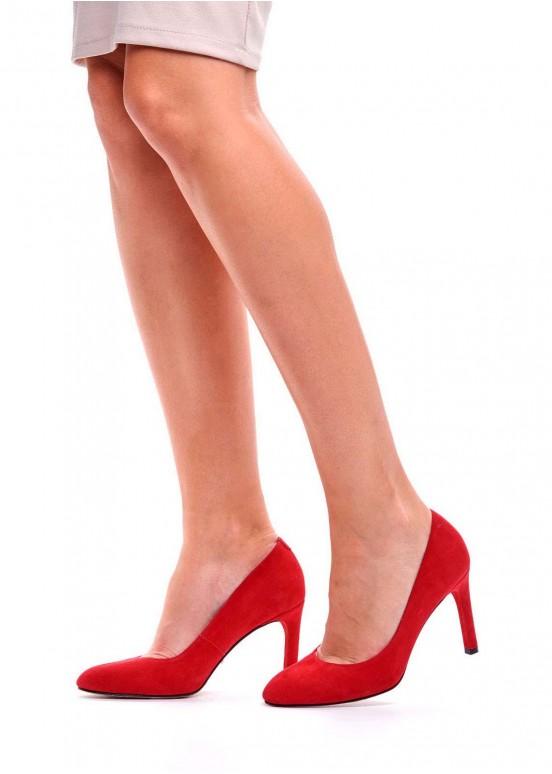 891511 Красные замшевые туфли