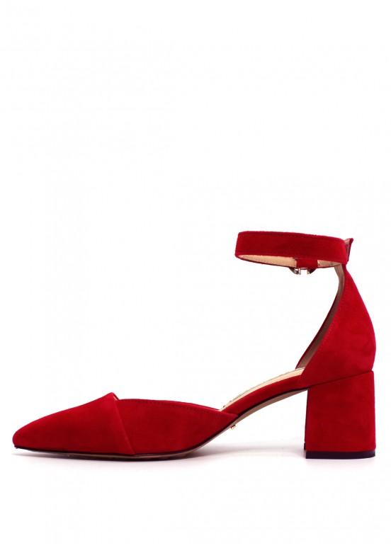 716131 Туфли красные замшевые