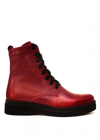 531033 Бордові combat boots