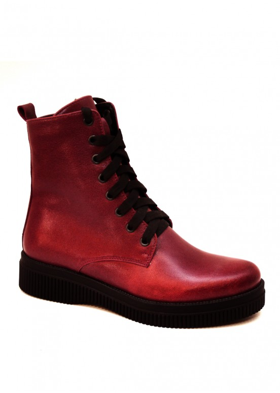 531033 Бордовые combat boots