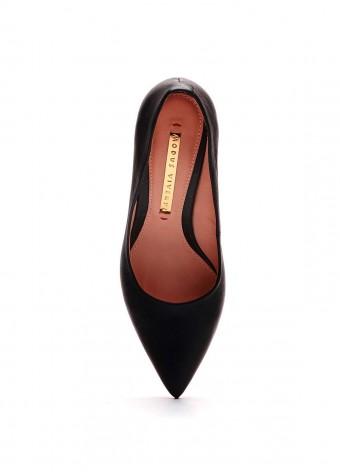 721254 Чорні шкіряні туфлі